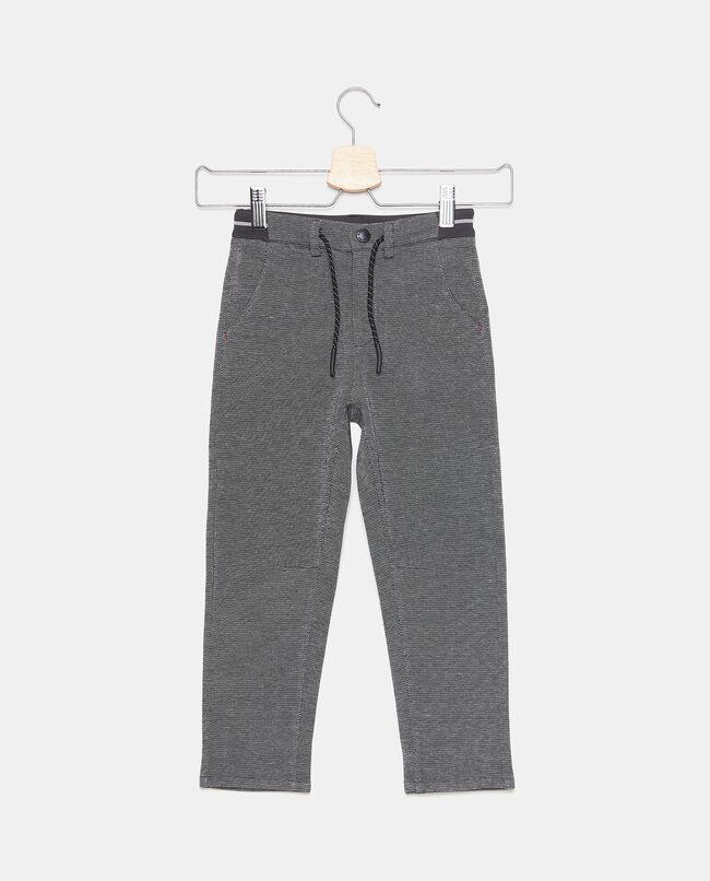 Pantaloni con cordoncino in fantasia bambino