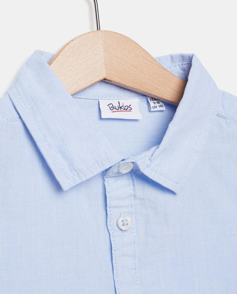 Camicia in tinta unita puro cotone ragazzo