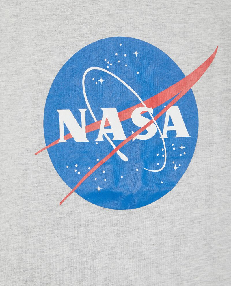 T-shirt in cotone organico con stampa Nasa bambino single tile 1