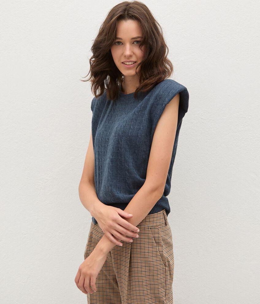 Gilet tricot tinta unita donna double 1