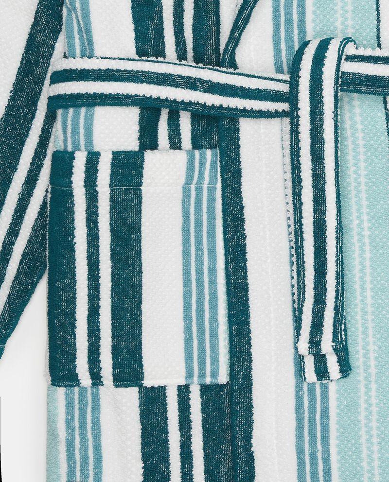 Accappatoio in cotone righe verticali