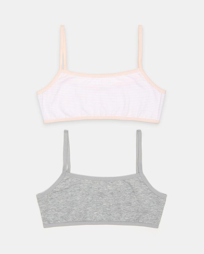 Bipack top in cotone elasticato bambina