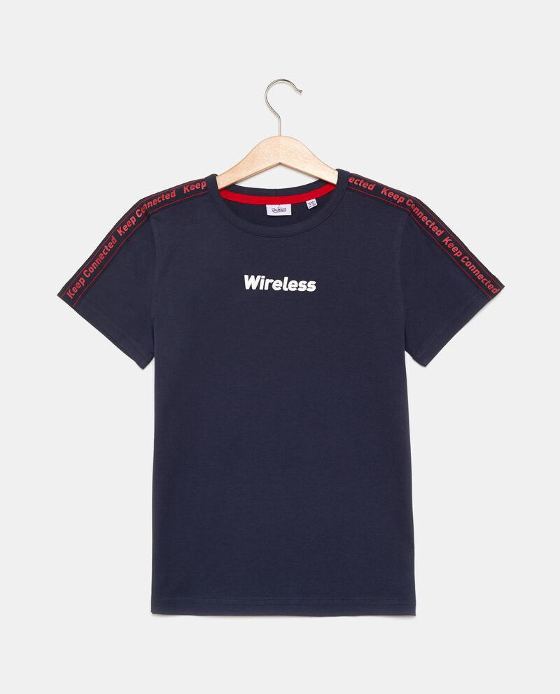T-shirt con bande lettering ragazzo cover