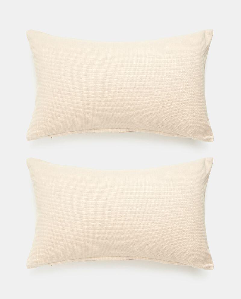Set 2 copricuscini tinta unita in puro cotone cover