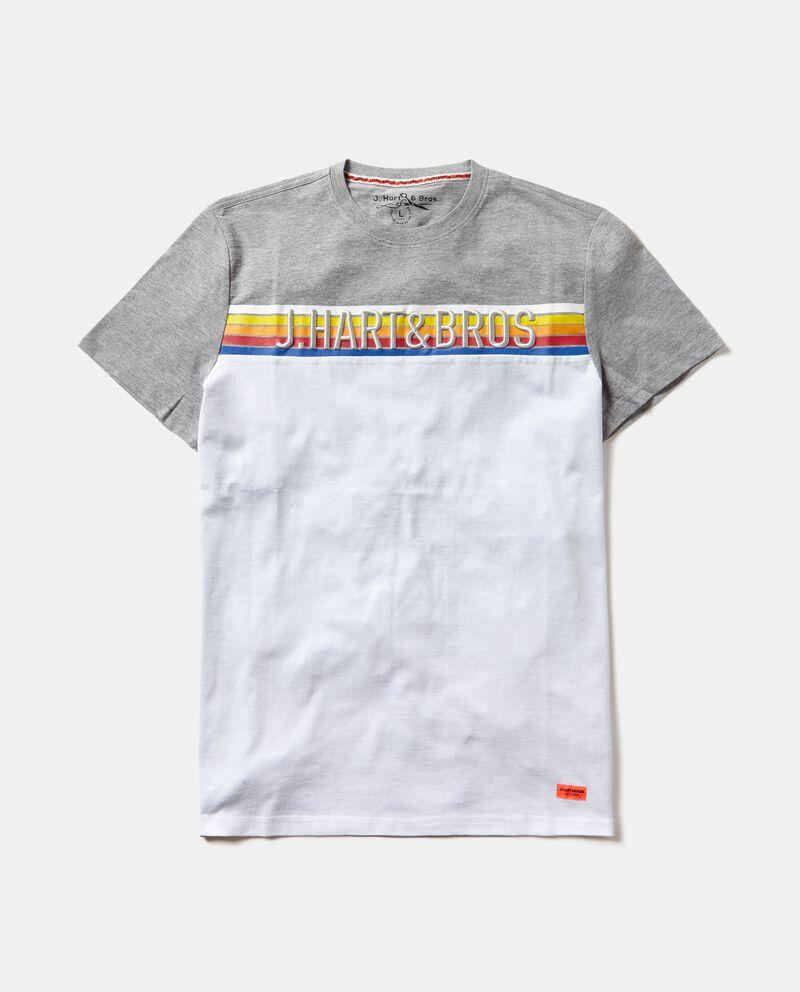 T-shirt con doppio colore e lettering uomo cover