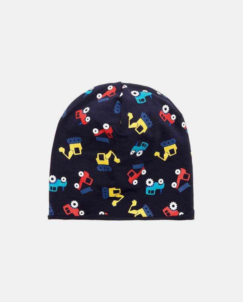 Cappello invernale con fantasia gru neonato