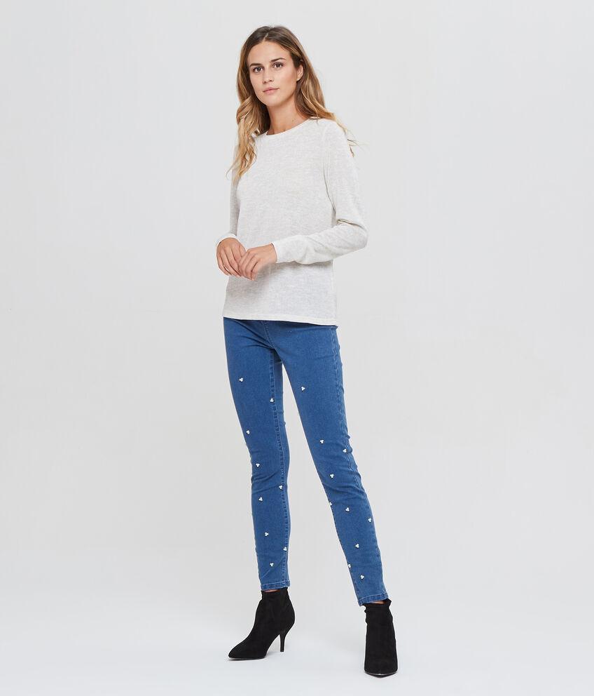 T-shirt maniche lunghe con lurex