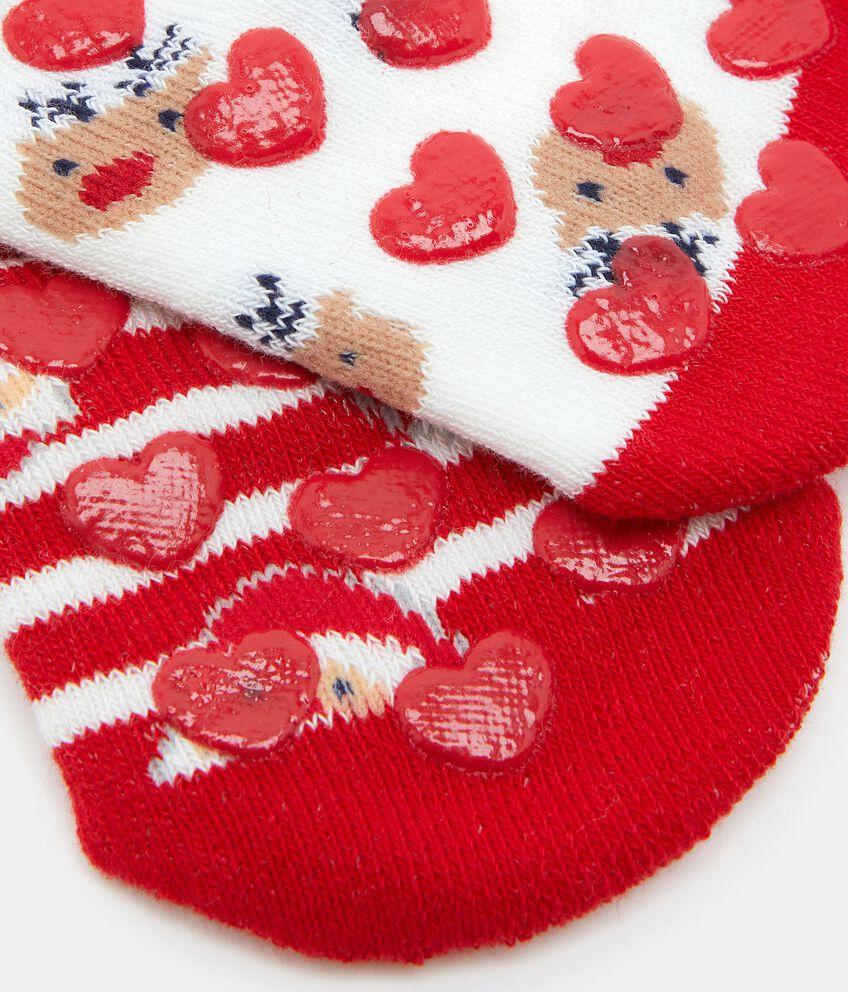 Bipack calzini antiscivolo in cotone biologico