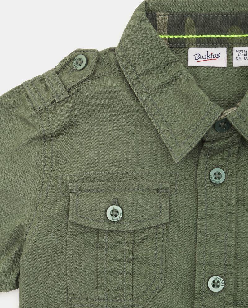Camicia in puro cotone neonato