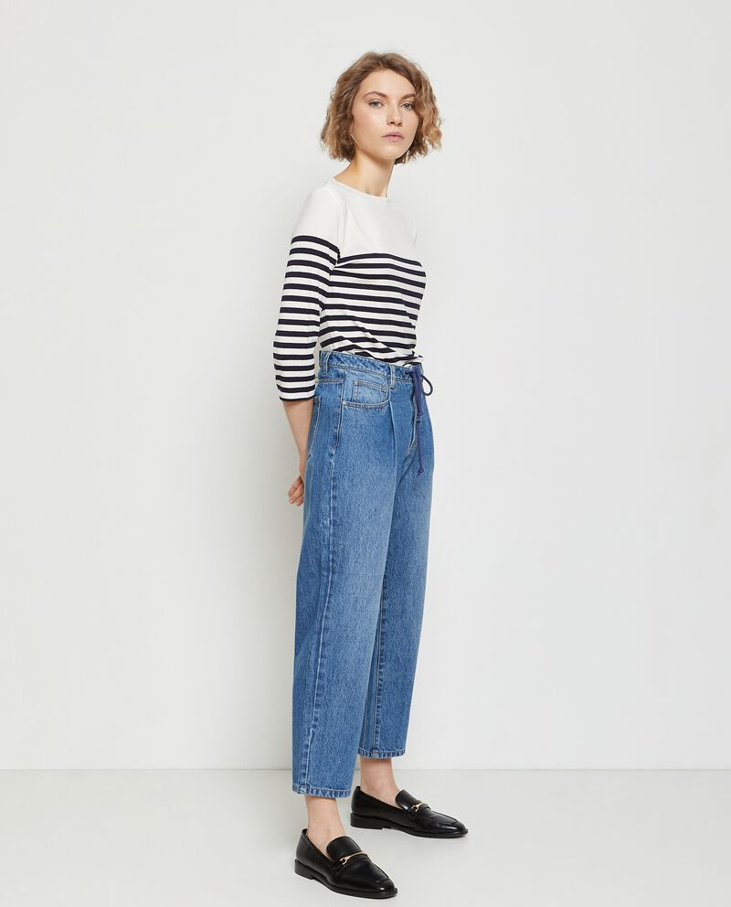 Jeans regular fit a vita alta donna