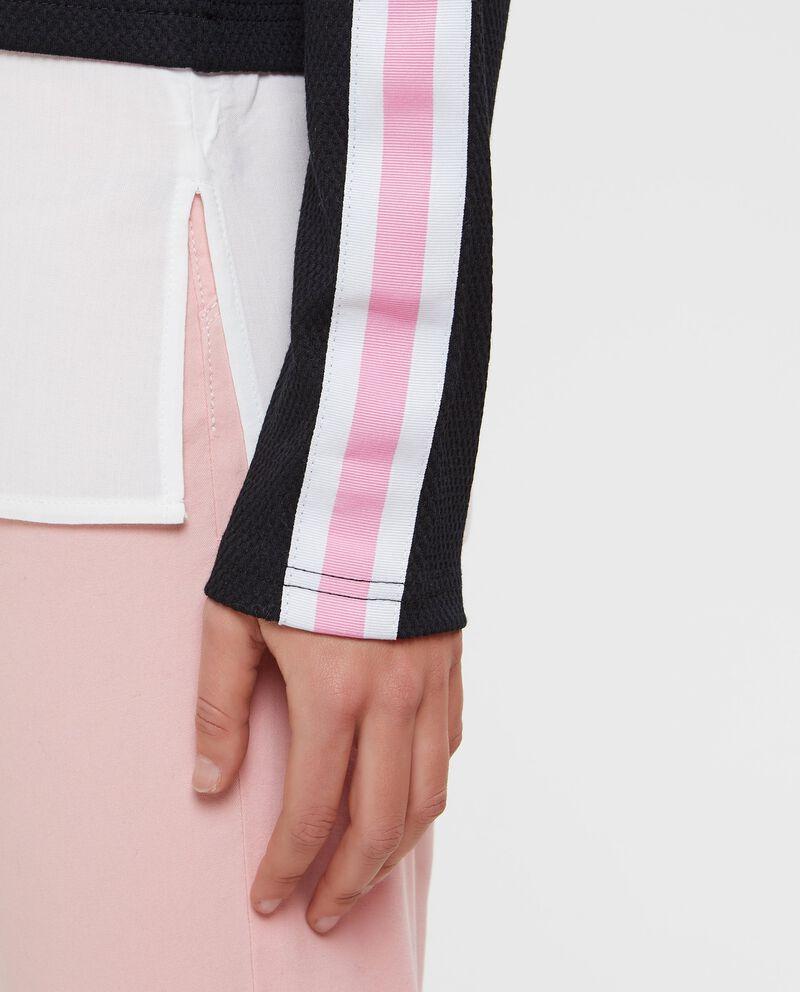 Pullover con camicia finto doppio
