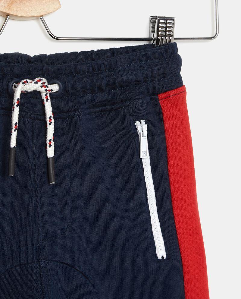 Pantaloni sportivi in puro cotone con bande