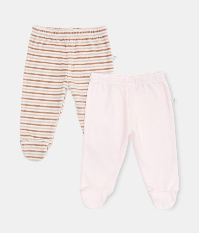 Bipack con 2 pantaloni di cotone biologico double 1