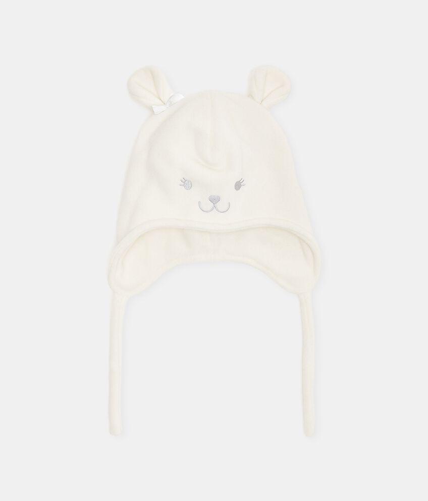 Cappellino in pile a forma di orsetto neonata double 1