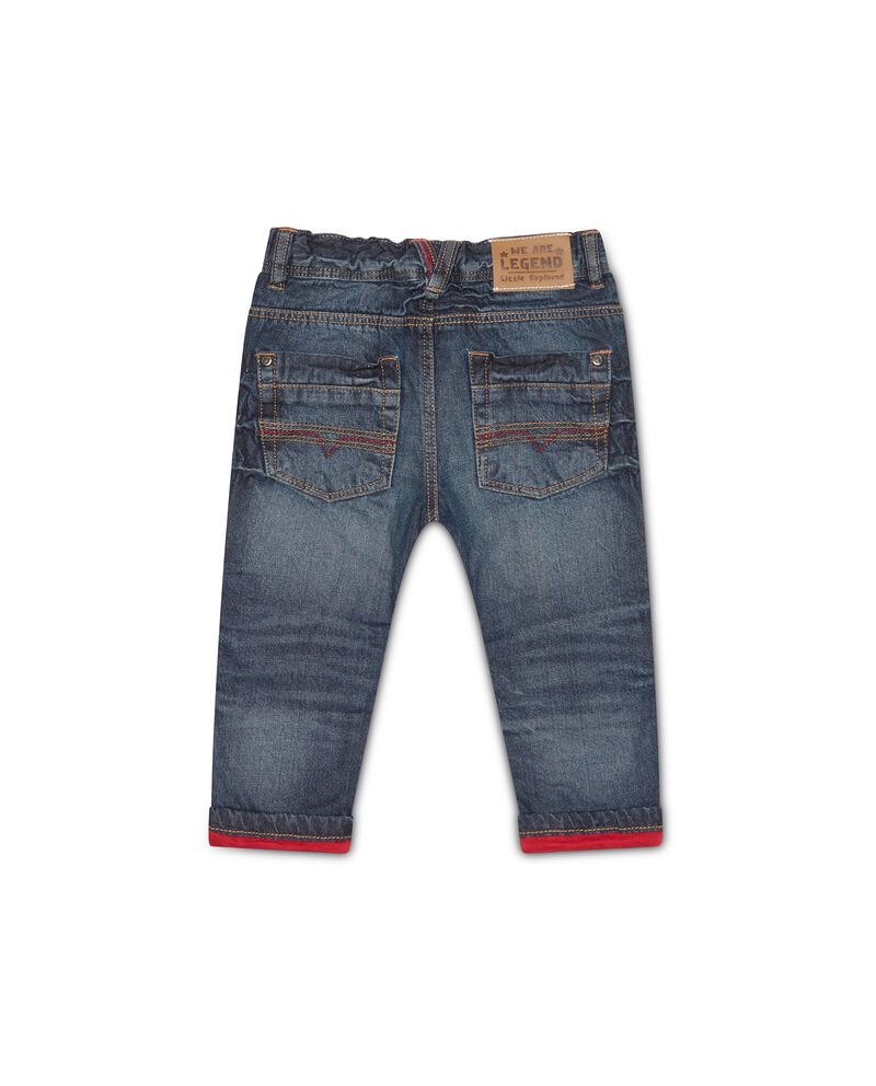 Jeans con orlo a contrasto