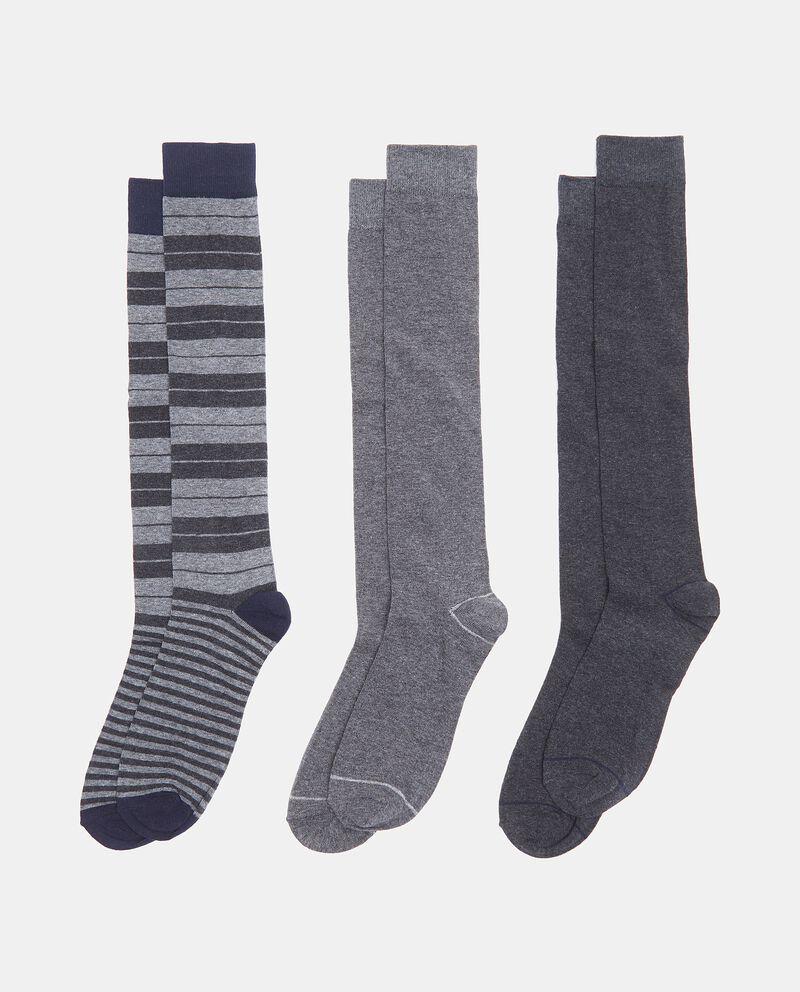 Set con 3 paia di calzini lunghi in cotone elasticizzato uomo cover