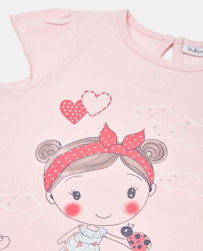 T-shirt in jersey cotone organico stampata neonata