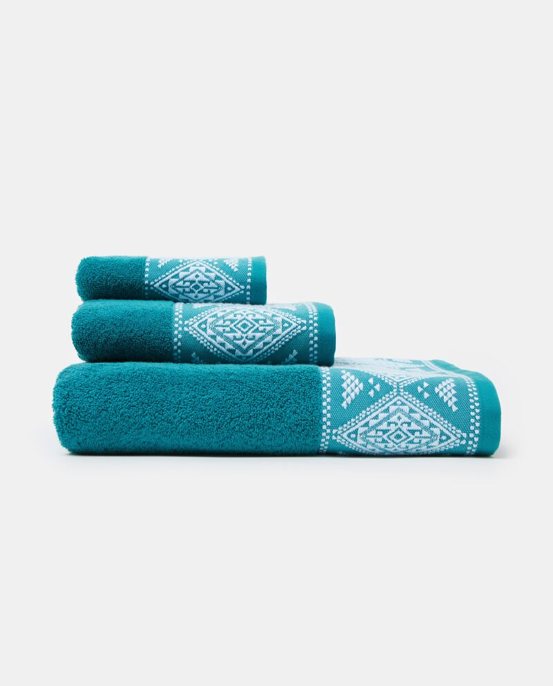 Asciugamano tinta unita e rombi