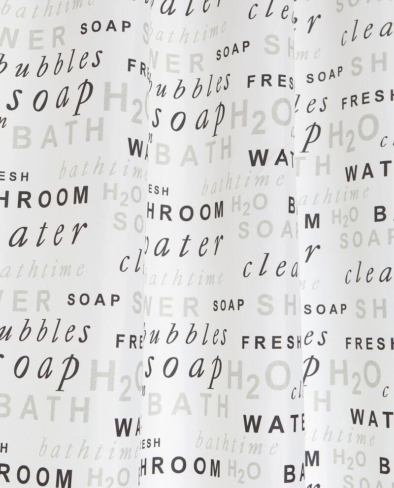 Tenda doccia con lettering all overdouble bordered 1