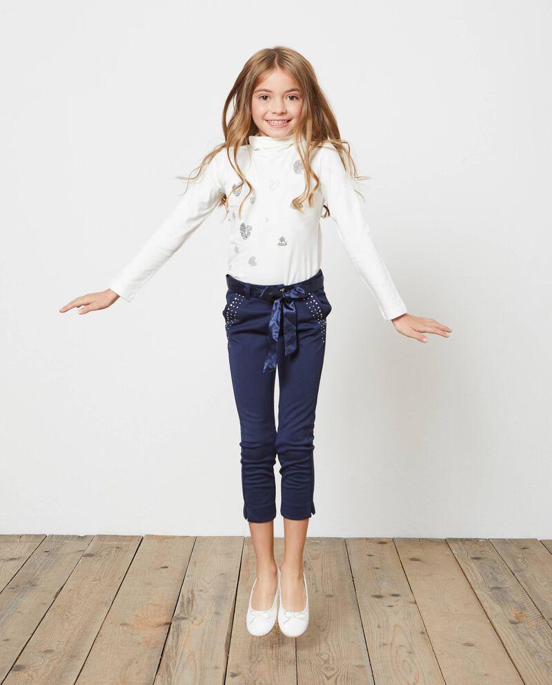 Pantaloni stretch con cintura velluto