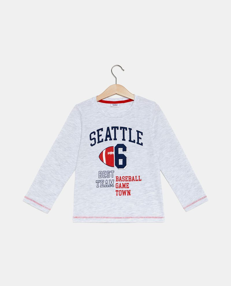 T-shirt con lettering mélange bambino