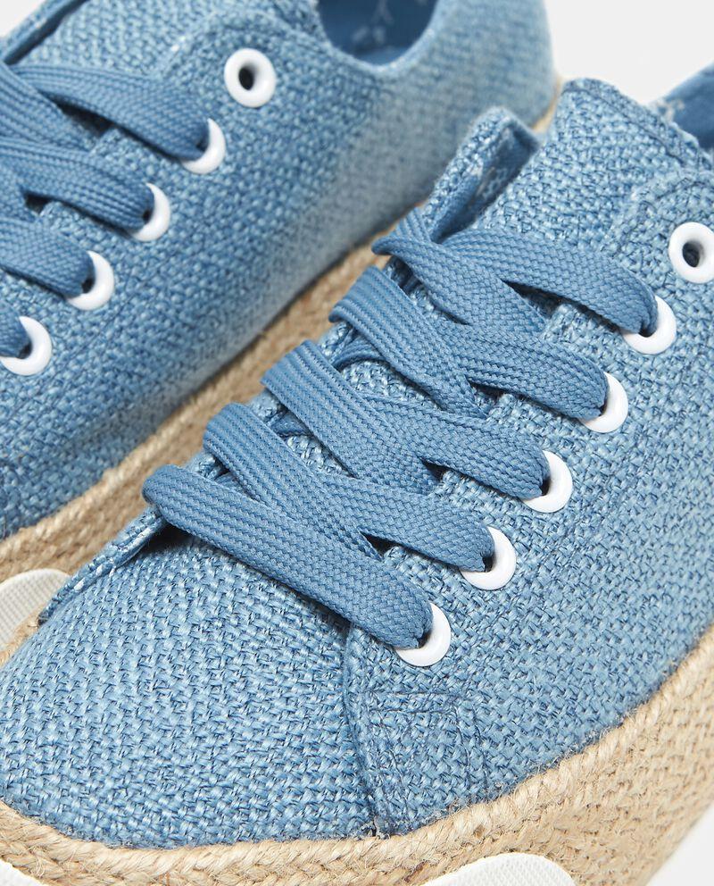 Sneakers effetto corda donna