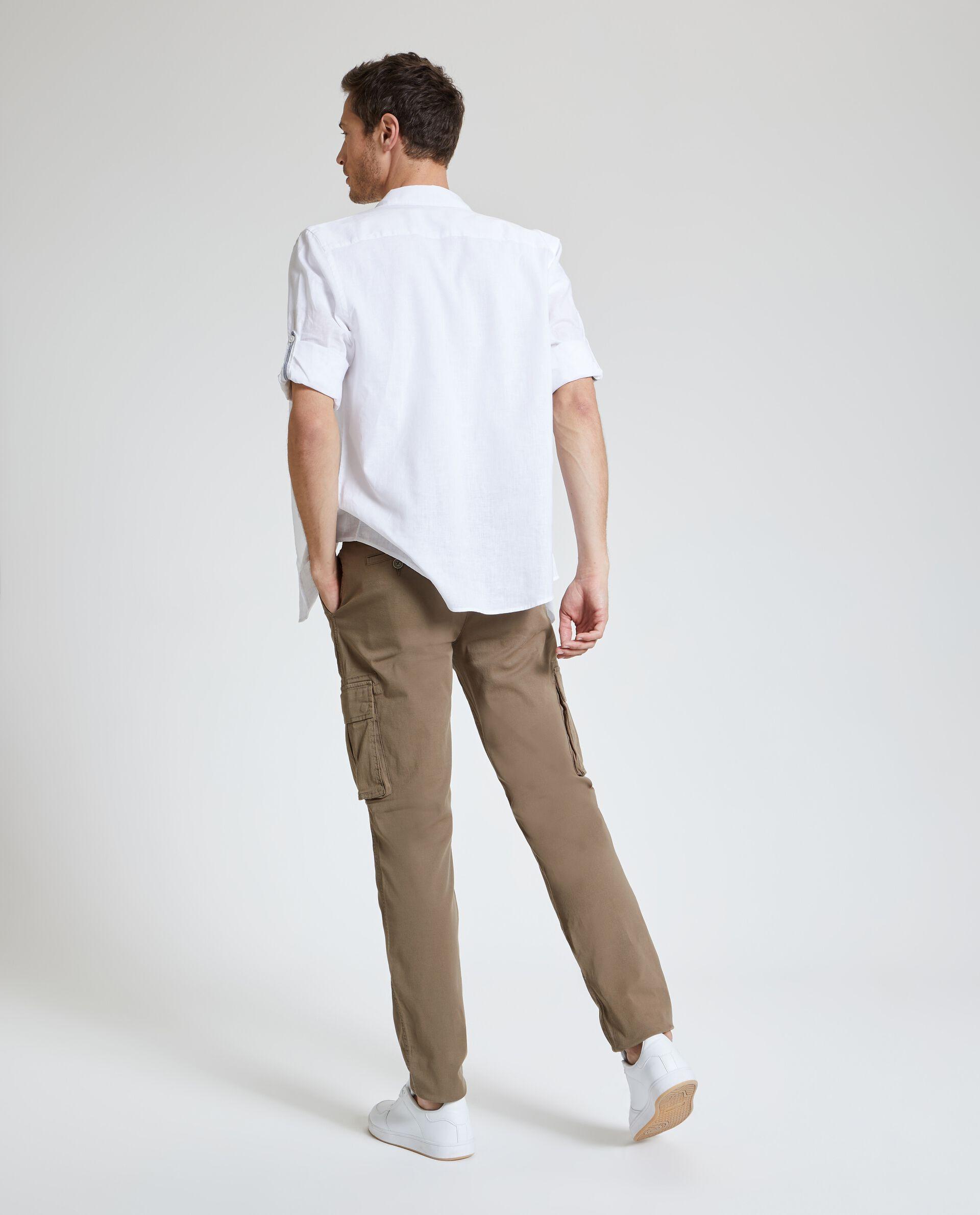Pantaloni cargo in tinta unita uomo