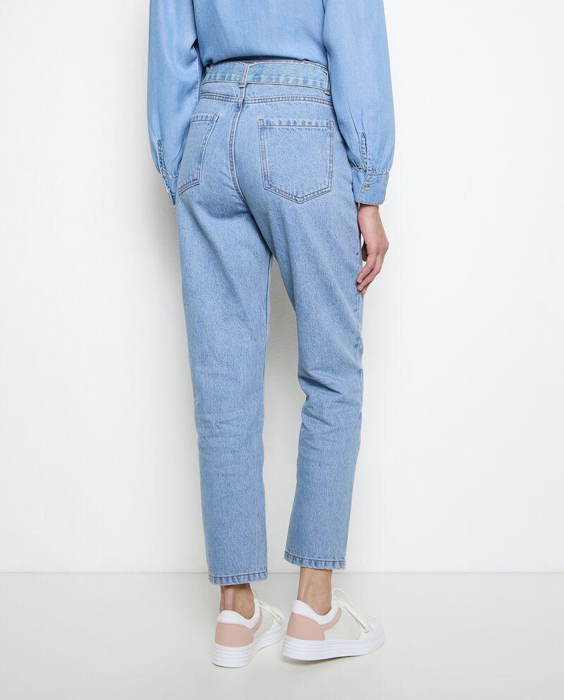 Jeans mom fit in puro cotone donna single tile 1