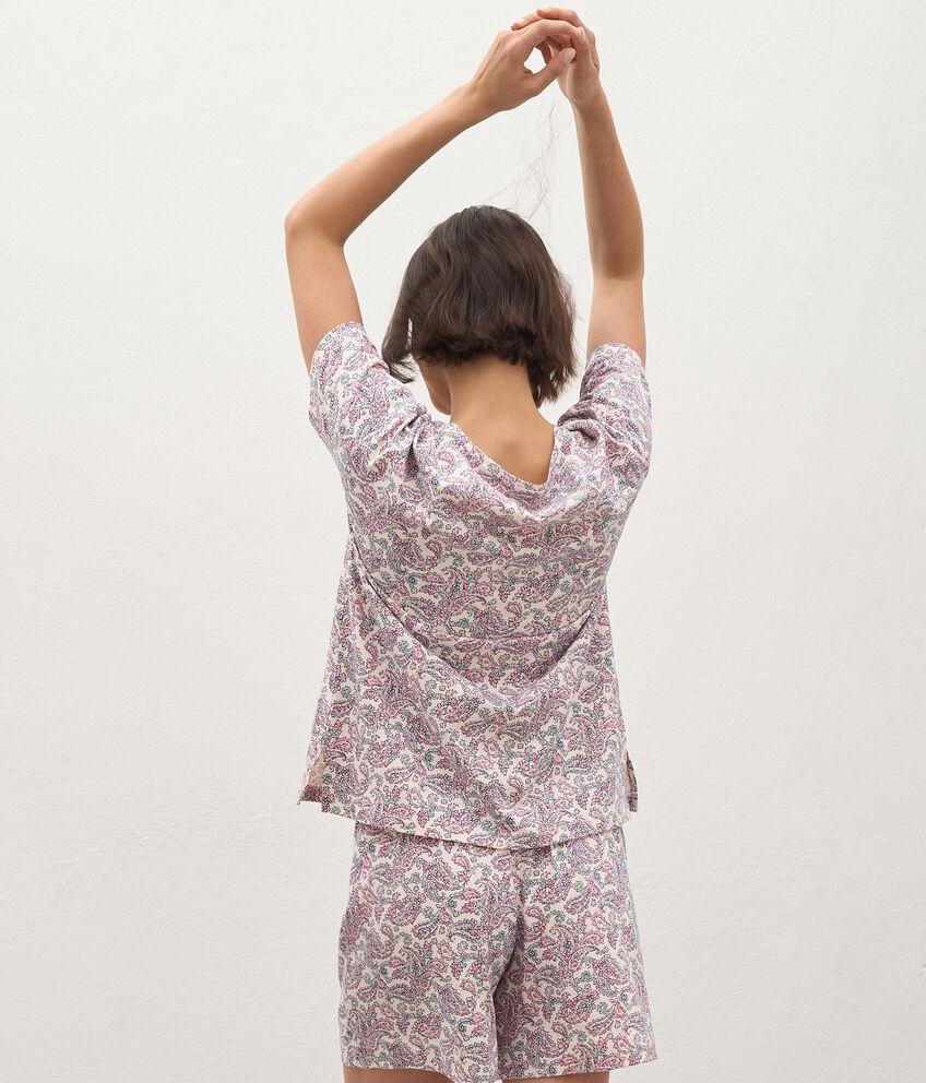 T-shirt pigiama di puro cotone donna double 2