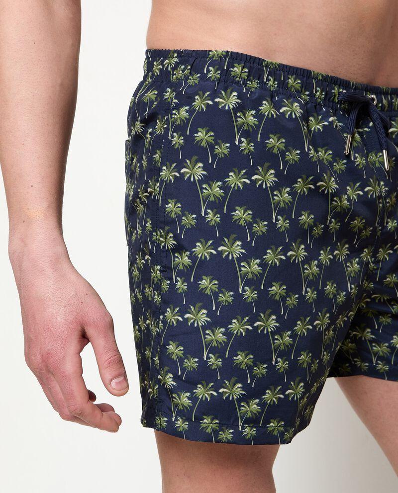 Costume shorts stampa palme uomo