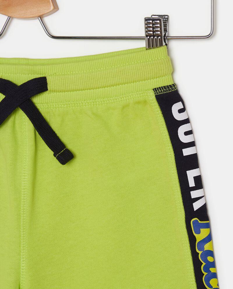 Shorts bande laterali in puro cotone bambino