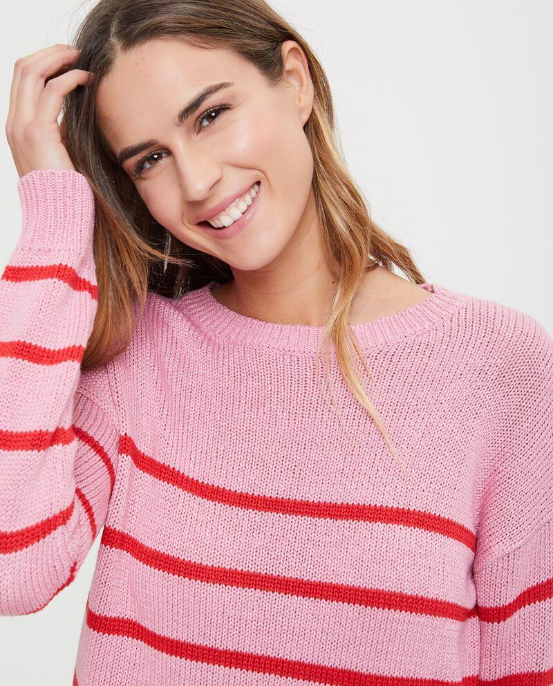 Pullover tricot fantasia a righe