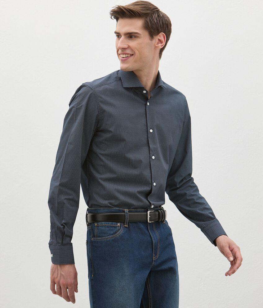 Camicia in fantasia di cotone uomo double 1
