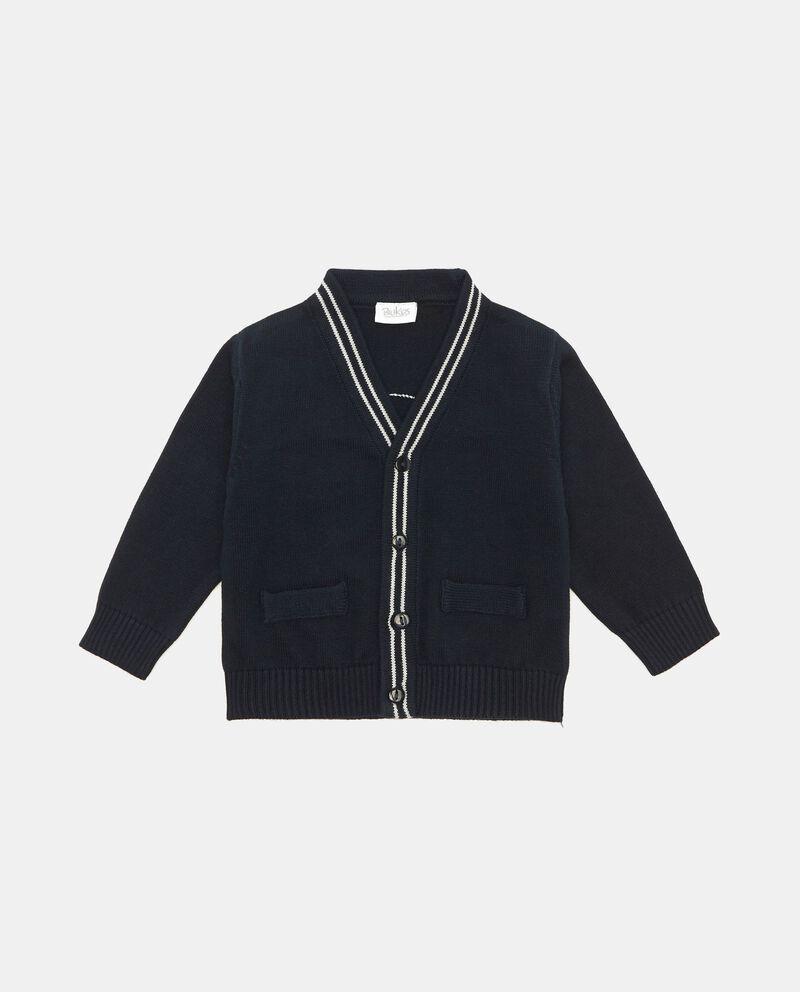 Cardigan puro cotone con scollo a V