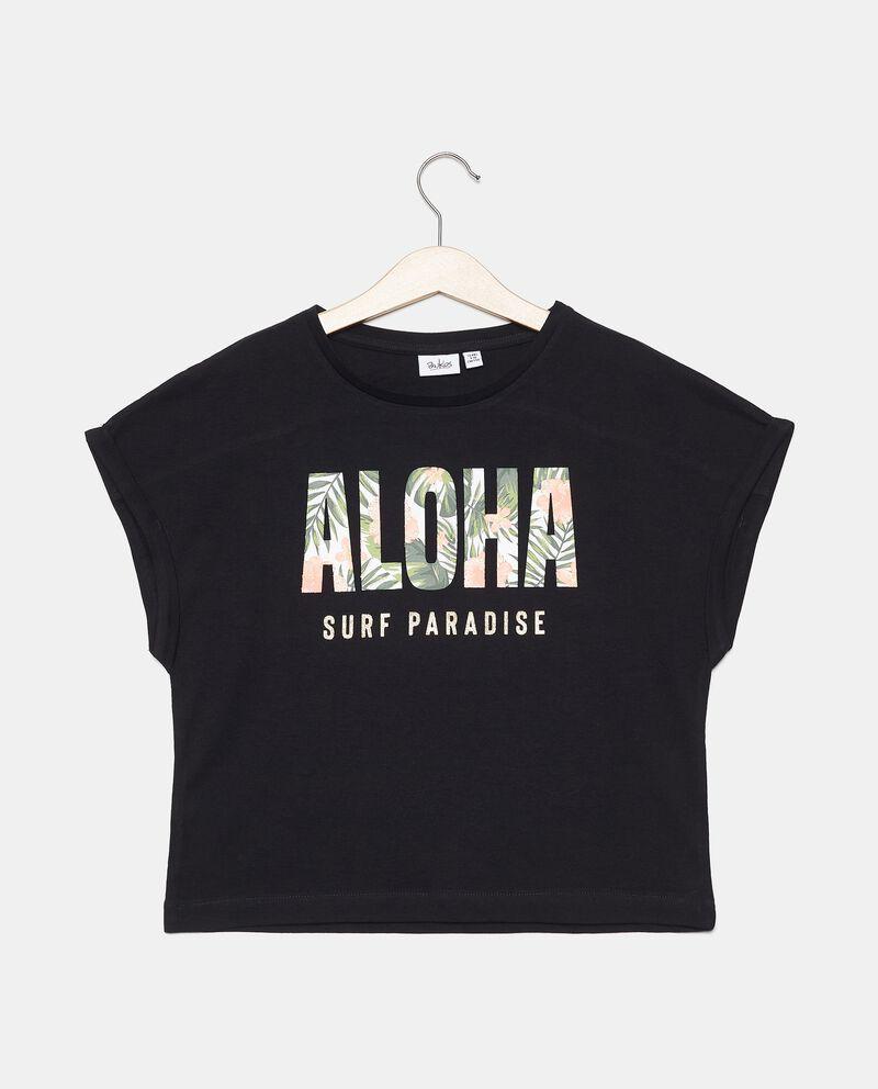 T-shirt in puro cotone con stampa ragazza