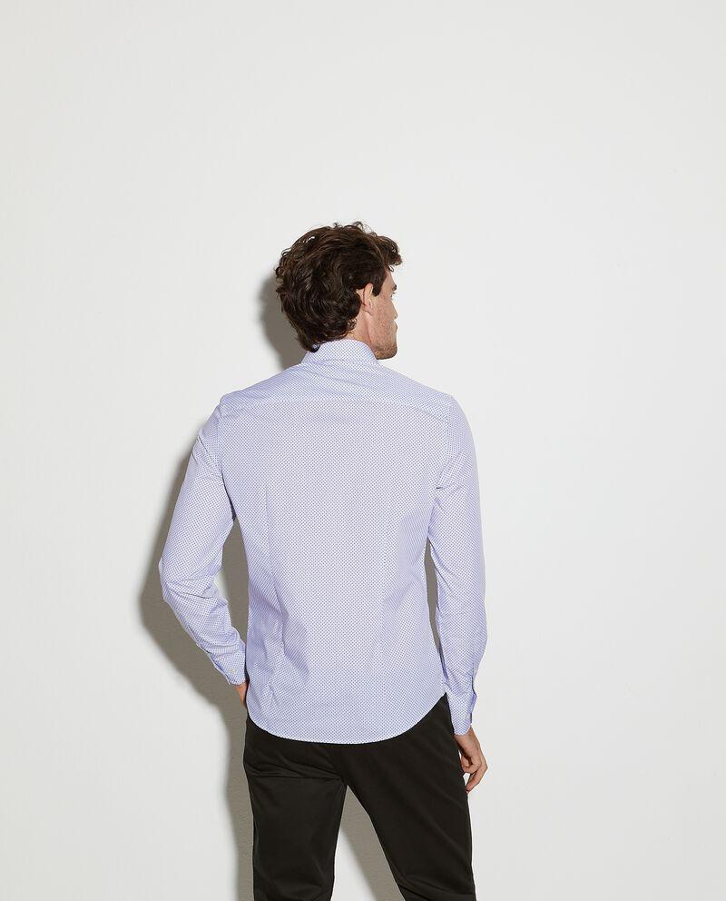 Camicia micro pois con taschino uomo single tile 1