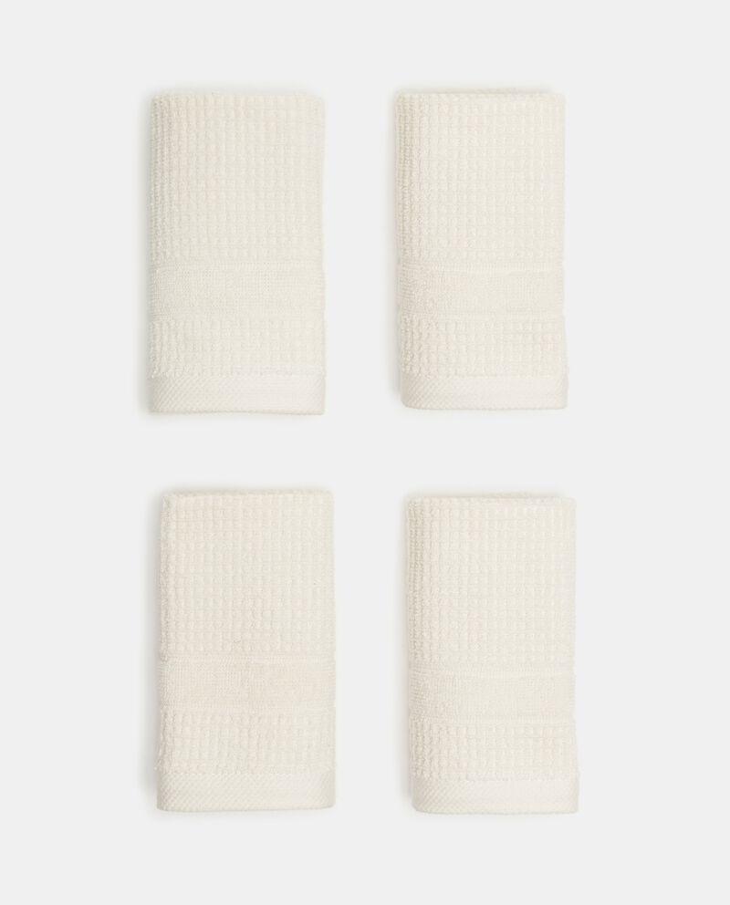 Asciugamano ospite waffle in puro cotone single tile 2