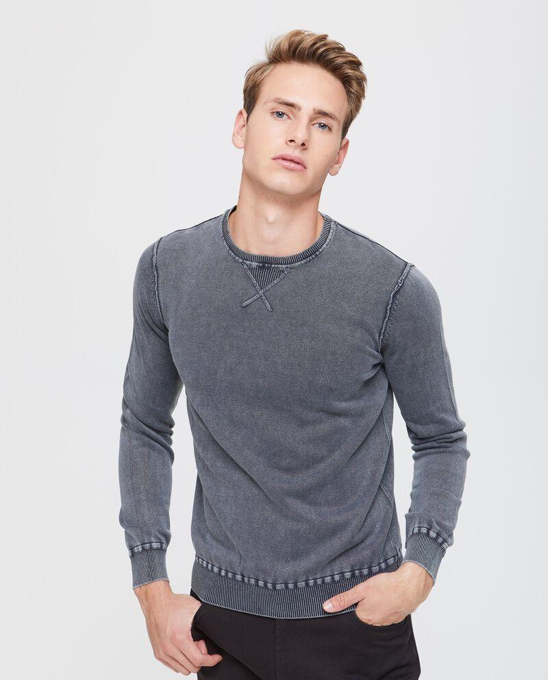 Pullover cotone con cuciture