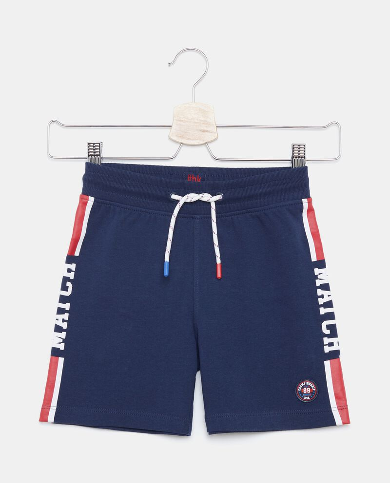 Shorts in puro cotone con bande bambino