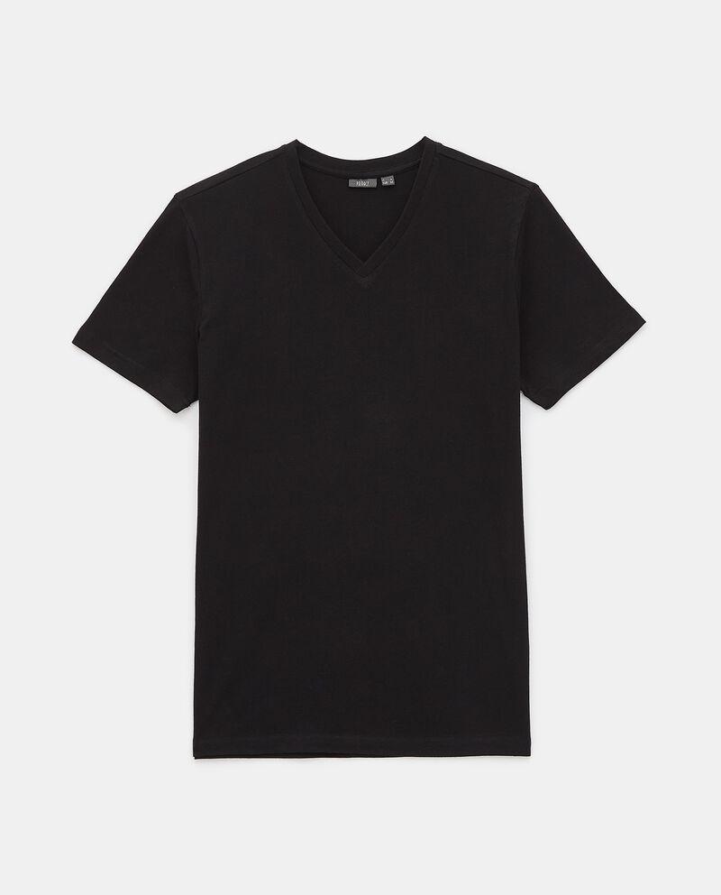 T-shirt intima di cotone organico con scollo a V uomo cover