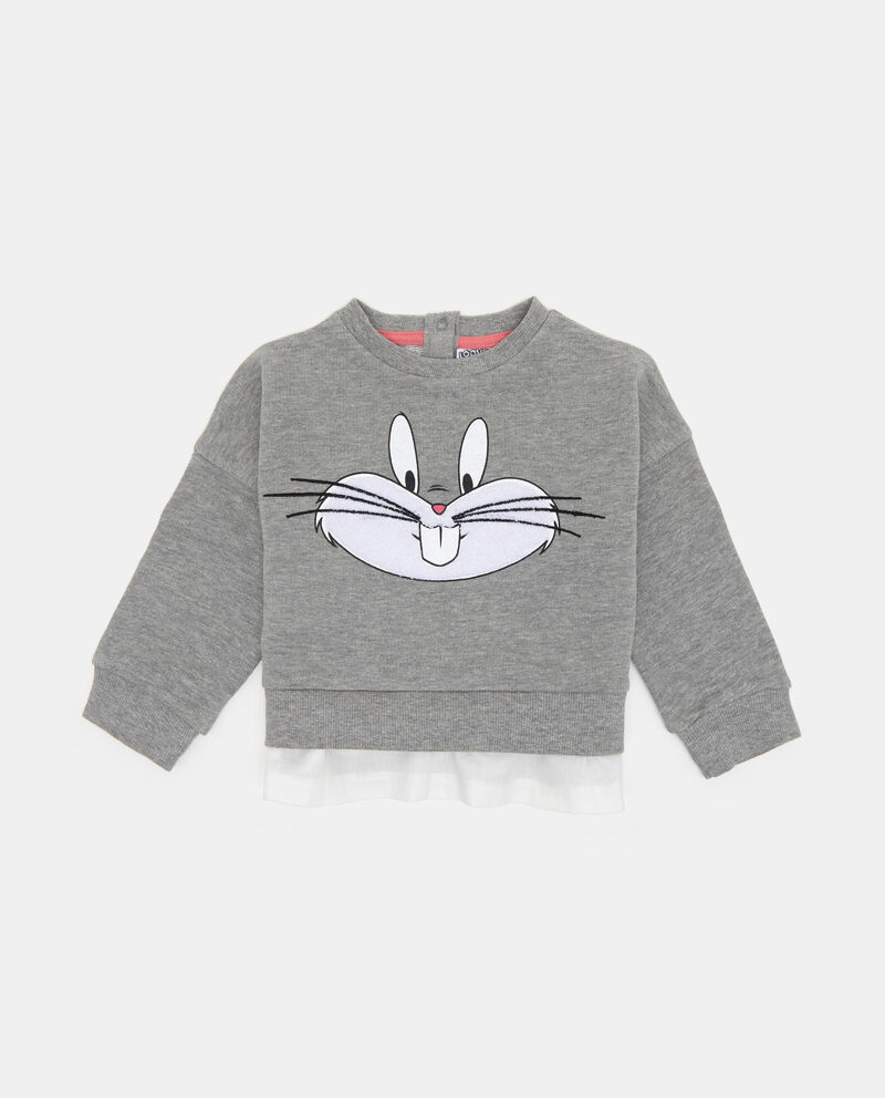 Felpa mélange stampa Bugs Bunny
