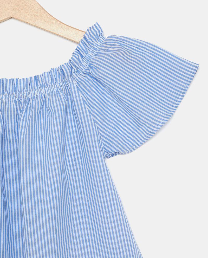 Camicia con spalle scoperte in puro cotone