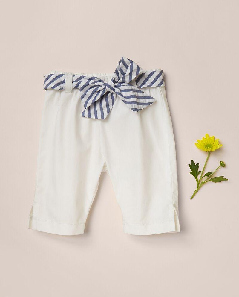 Pantaloni capri in popeline di cotone MADE IN ITALY