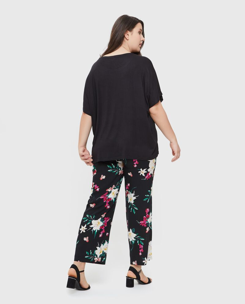 T-shirt donna in viscosa con maniche al gomito