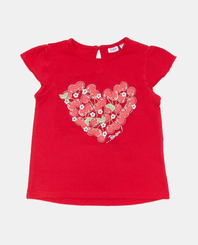 T-shirt in jersey cotone organico con stampa neonata