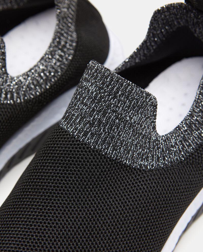 Sneakers con fascia a contrasto in maglia donna