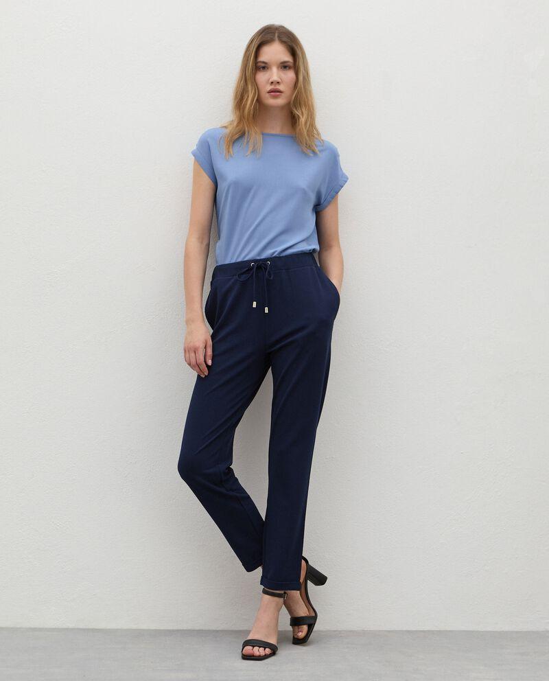 Pantaloni con coulisse crepe donnadouble bordered 0