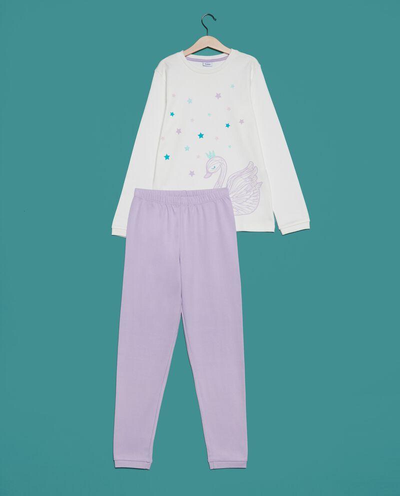 Set pigiama t-shirt e pantaloni in puro cotone ragazza