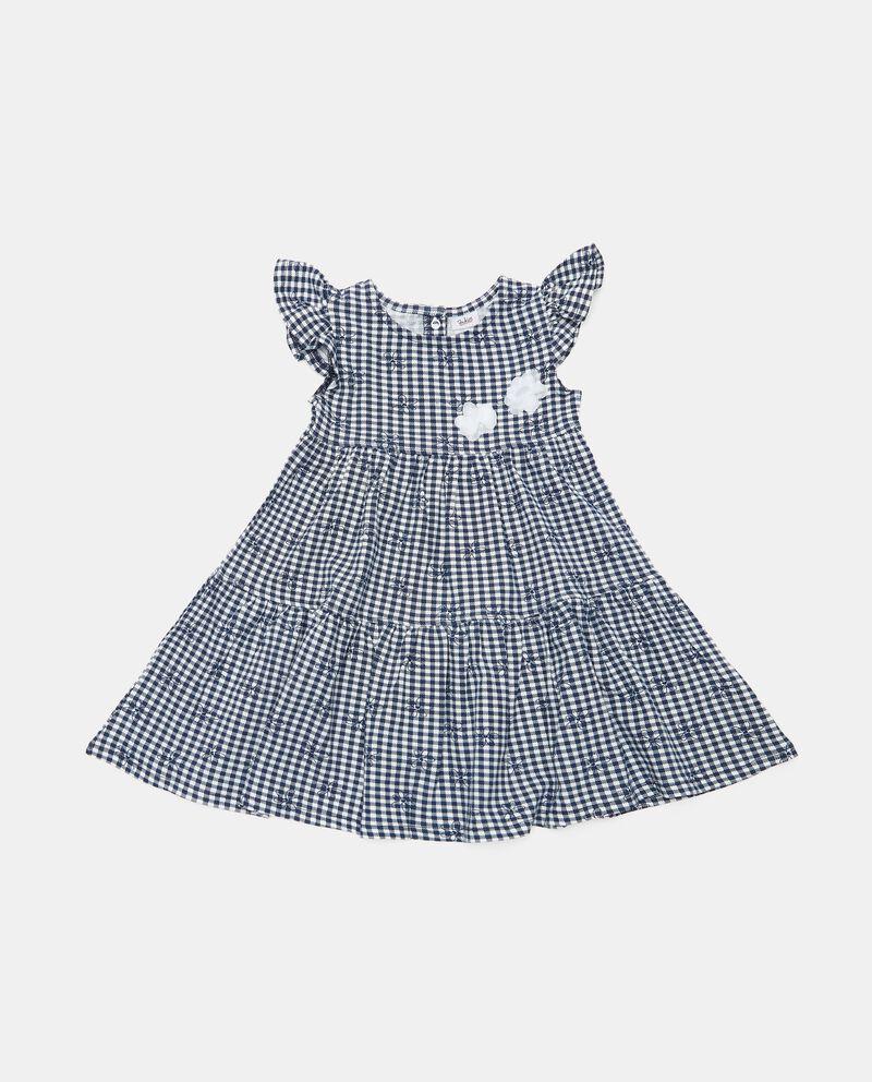 Vestito in cotone organico con maniche ad aletta neonata