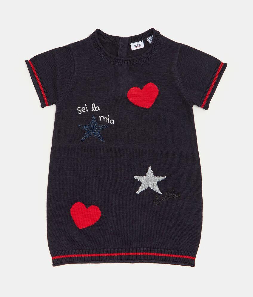 Vestitino in maglina a maniche corte neonata double 1